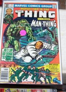 Marvel Two-In-One #77 (Jul 1981, Marvel) the thing + man-thing sgt fury