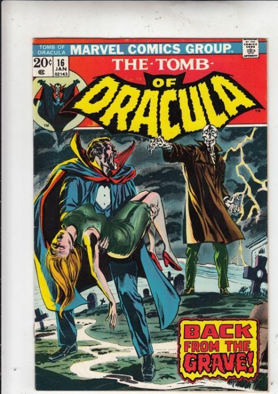 Tomb of Dracula 16 strict VF/NM 9.0 High-Grade  ~~pay 1st shipping fee!!    A