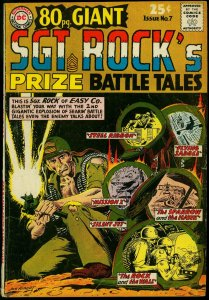 80 Page Giant #7 1965- Sgt Rock Prize Battle Tales- Kubert G/VG