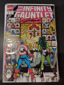 THE INFINITY GAUNTLET #2 SIGNED BY GEORGE PEREZ WITH COA