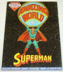 Amazing World of Superman: Metropolis Edition #1 VG dc treasury w/krypton poster