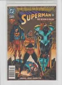 Superman 107 VF+ 8.5 (1995, DC) Newsstand Variant!