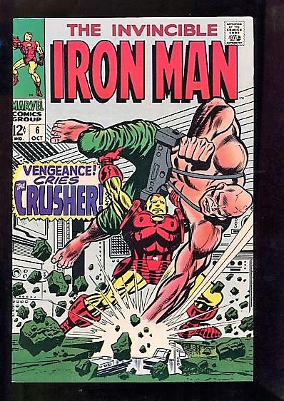 IRON MAN  #6  (1968)  9.6  (NM+)  WHITE PAGES SUPER HIGH GRADE