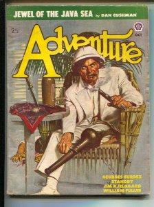 Adventure 10/1948-Bloody death cover by Peter Stevens-Pulp tales by Dan Cushm...