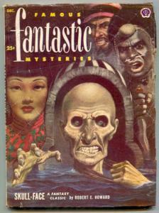 Famous Fantastic Mysteries Pulp December 1952- Bradbury- Sturgeon