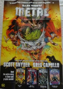 DARK NIGHTS METAL Promo Poster, 24 x 36, 2017, DC, Unused more in our store 191