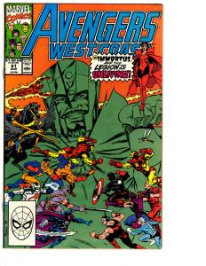 10 Avengers West Coast Marvel Comic Books # 61 62 63 64 65 66 67 68 69 70 BH6