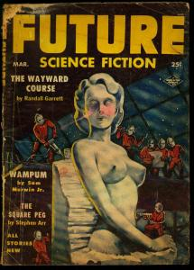 Future Science Fiction Pulp March 1954- Nude Alex Schomburg cover- Binder P/F
