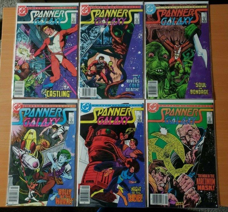Spanner Galaxy 1-6 Complete Set Run NEWSSTAND ~ NEAR MINT NM ~ 1984 DC Comics