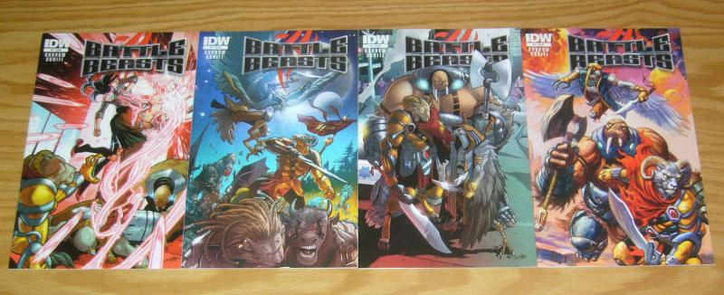 Battle Beasts #1-4 VF/NM complete series - idw comics - dan brereton cover