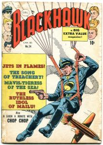 Blackhawk #34 1950- Canadian edition- Bell Features Chop Chop G
