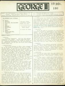 George Fanzine #2 1971- Newsletter format reviews- Rare VG