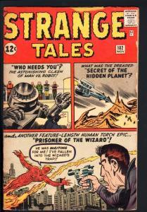 STRANGE TALES #102-1ST WIZARD-HUMAN TORCH-MARVEL-1962