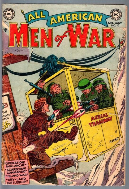 ALL AMERICAN MEN OF WAR #10-1954-NAZIS-WWII-DC-GOLDEN AGE FR/G