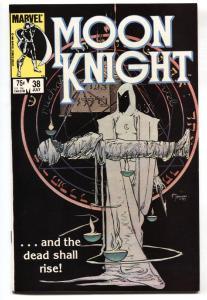 Moon Knight #38 comic book 1984- Last issue Low print run NM-