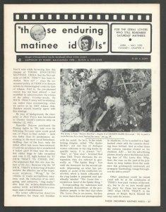 Those Enduring Matinee Idols #4 4/1970-Movie serial fanzine-Film images & art...