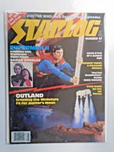 Starlog #47 - Superman Reeves - see pics - water damage 5.0 - 1981