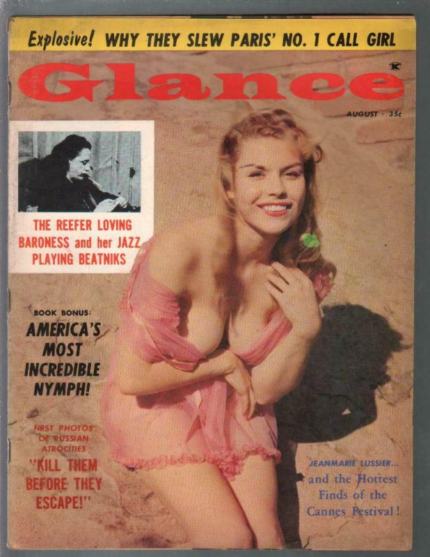 Glance 8/1960-Reefer Loving Baroness-UFO's-cheesecake-exploitation-VG