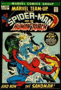 Marvel Team-Up #1 1972- Spider-man- Human Torch- VF