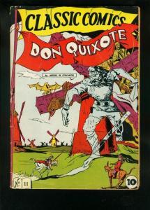 CLASSIC COMICS #11 HRN 10 1943-DON QUIXOTE-1st EDITION-WILD COVER-very good VG