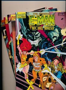 FIRST Comics LOT of 5! E-MAN #7,#6,#3,#2,#1 VERY FINE+ (HX856)