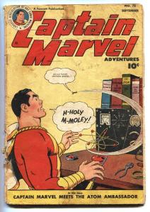 CAPTAIN MARVEL ADVENTURES #76 1947-SPECIAL ATOMIC ISSUE- G