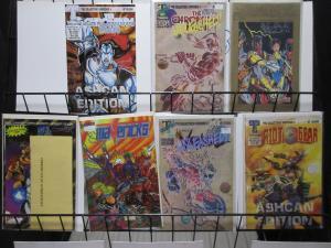 Signed Indie Superhero Comics Lot of 7Diff Chromium Man Mavericks Riot Gear ++
