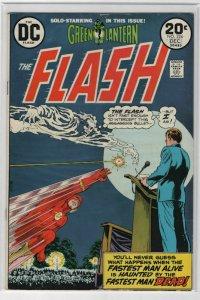 Bronze Age Flash Comics #224 6.0 Fine condition The Fastest Man Dead! 1973