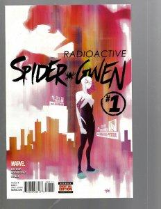 Lot Of 9 Spider-Gwen Marvel Comic Books # 1 2 3 4 5 6 7 8 + # 1 Variant Man TJ3