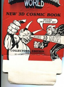 JACK KIRBY-BATTLE FOR A THREE DIMENSIONAL WORLD-STORE DISPLAY-1983-RARE