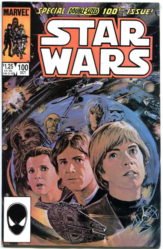 STAR WARS #100, VF-, Luke Skywalker, Darth Vader, 1977, more SW in store
