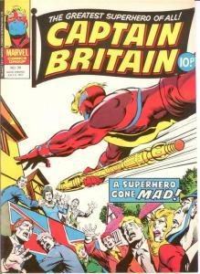 CAPTAIN BRITAIN (1976) 39 VERY FINE LAWRENCE/WILSON/MAR COMICS BOOK