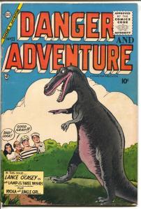 Danger & Adventure #23 1955-Charlton-dinosaur-Nyoka Jungle Girl-O'Casey-FN-