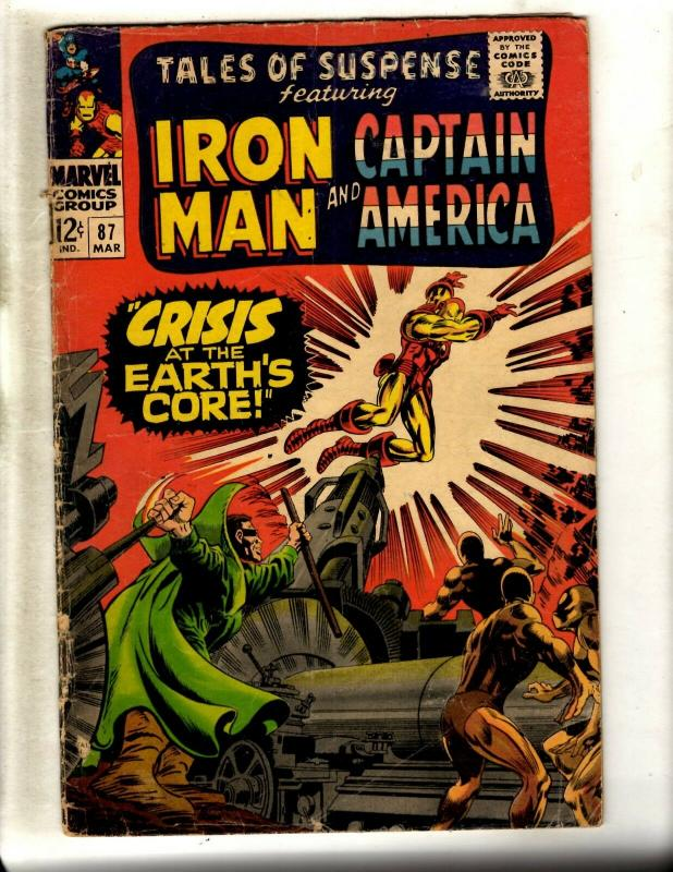Tales Of Suspense # 87 VG Marvel Comic Book Iron Man Captain America WS9
