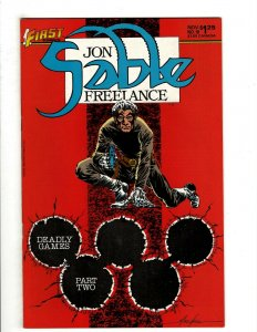 12 Jon Sable Freelance First Comics # 18 19 20 21 22 23 24 25 26 27 28 29 HG4