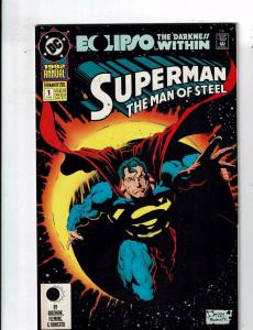 Lot of 2 Superman: The Man of Steel Annual DC Comic Books #1 2 TW44