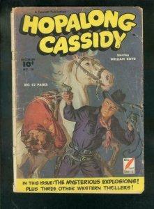 HOPALONG CASSIDY #38 1949-FAWCETT WESTERN-SAUNDERS COVR FR/G