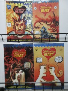 Bleeding Heart by Peter Kuper (Fantagraphics 1992) #1, 2, 4, 5 Lot