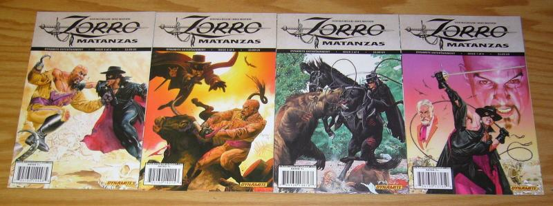 Zorro: Matanzas #1-4 VF/NM complete series - don mcgregor - mike mayhew 2 3 set