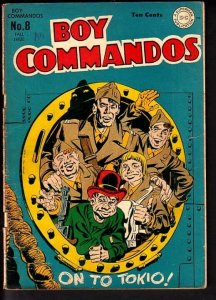 BOY COMMANDOS #8-SIMON AND KIRBY-GREAT ISSUE VG