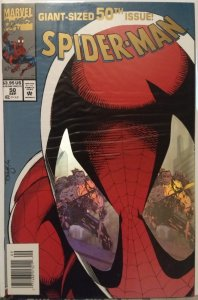Spider-Man #50 NM CARDSTOCK COVER WITH HOLOGRAM