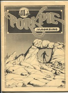 Porkpie #1 1976-1st issue-underground comix art-Frank Frazetta feature-Windso...