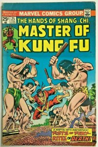 MASTER OF KUNG FU#25 VG 1975 MARVEL BRONZE AGE COMICS