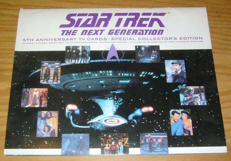 Star Trek the Next Generation 5th Anniversary TV Cards portfolio (12 prints)