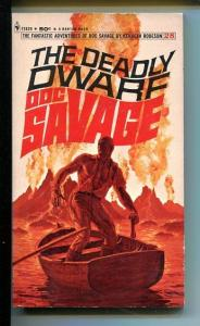 DOC SAVAGE-THE DEADLY DWARF-#28-ROBESON-VG/FN-JAMES BAMA COVER-1ST EDITION VG/FN
