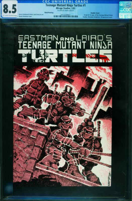 TEENAGE MUTANT NINJA TURTLES #1-3rd-DOUBLE COVER!-CGC 8.5-1984-2012338001