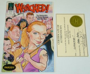 Whacked! #1 VF/NM; signed by Alan Katz with COA - Tonya Harding case parody