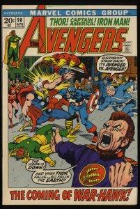 Avengers #98 VF 8.0 Marvel Comics Thor Captain America