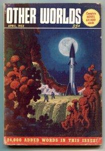 Other Worlds Digest Pulp April 1953- rocket cover
