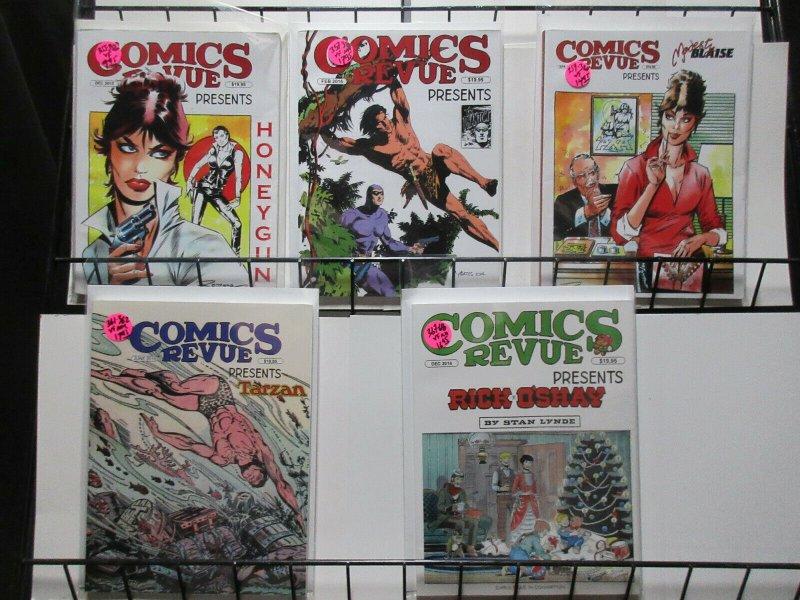Comics Revue Lot of 5Diff from 2015 and 2016 Tarzan Modesty Blaise Phantom